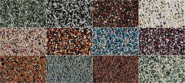 Типы мозаичной штукатурки