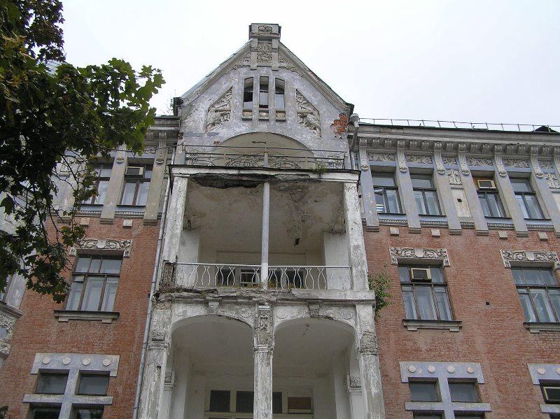 Фасад здания до реставрации