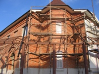 Фасад коттеджа до отделки