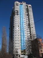 Облицовка Сканроком 25 этажного жилого дома