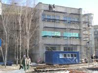 Утепление и облицовка фасада керамогранитом БЦ Протон